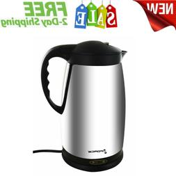 Polished Stainless Steel Electric Kettle Water Heater 1.8 Li