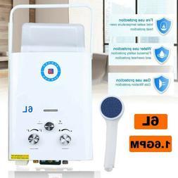 Portable LPG Propane Gas Hot Water Heater 6L Tankless Instan