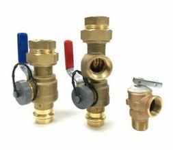 """PRESS 3/4"""" Tankless Water Heater Isolation Valve Kit, Noritz"""