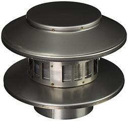 "Noritz RC4 4"" Diameter Rain Cap Stainless Steel Single Wall"