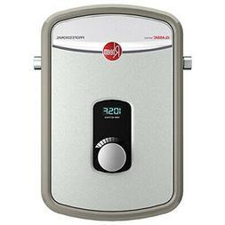 Rheem 8kW Tankless Water Heater 240V Ext Adj Temp 1/2 in. Co