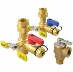 Rheem RTG20220AB Tankless Service Clean Brass Valve Kit with