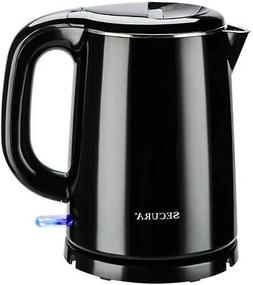 Secura Stainless Steel Double Wall Electric Kettle Water Hea
