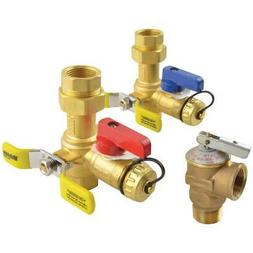 Tankless Water Heater Brass Service Valve Hot Cold Relief Le