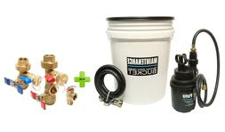Tankless Water Heater Flushing Kit With Brass Isolation Valv