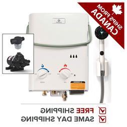 Tankless Water Heater Propane Portable Eccotemp L5 w/ EccoFl