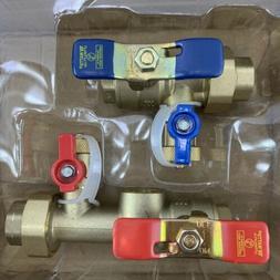 WATTS Tankless Water Heater Valve Set Lead Free 3/4 IPS Unio