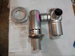 "TAKAGI TK-KPA464 ADJUSTABLE from 32 TO 60/'/'Length x 4/"" Stainless Vent Pipe"