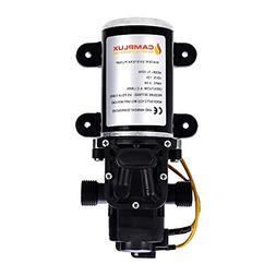 Camplux 12V Water Pump 65PSI DC 1.6GPM 6LPM Diaphragm for Ca
